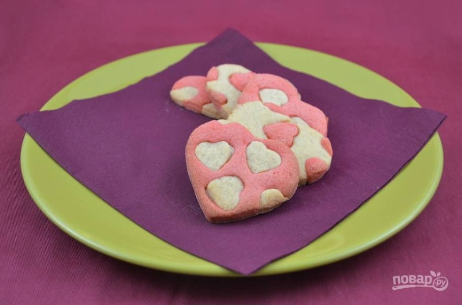 Печенье с сердечками