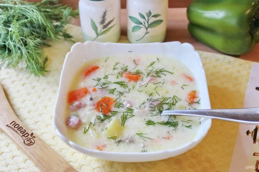 Суп с бужениной