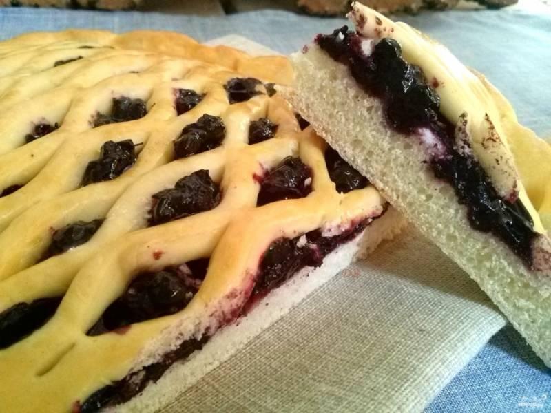 Духовку разогрейте до 180 градусов. Выпекайте пироги в течение 25-30 минут. Остудите их на решетке под полотенцем. При желании посыпьте сахарной пудрой. Приятного аппетита!
