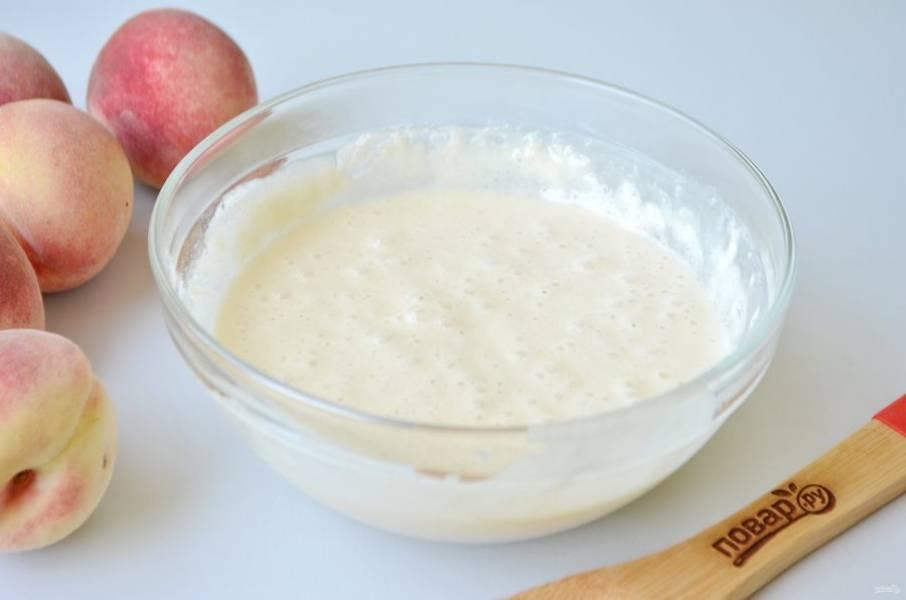 5. Тесто готово, оно вязкое и воздушное. Можно добавить ванильный экстракт или ромовый ароматизатор.