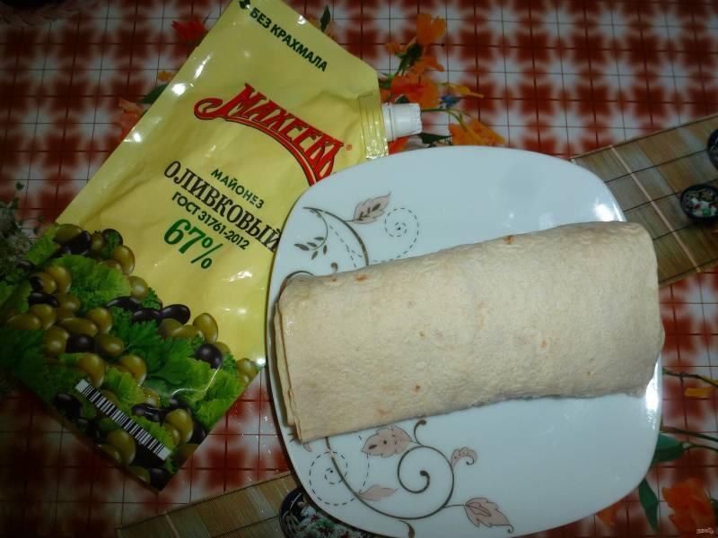 Лучший рецепт лаваша с майонезом