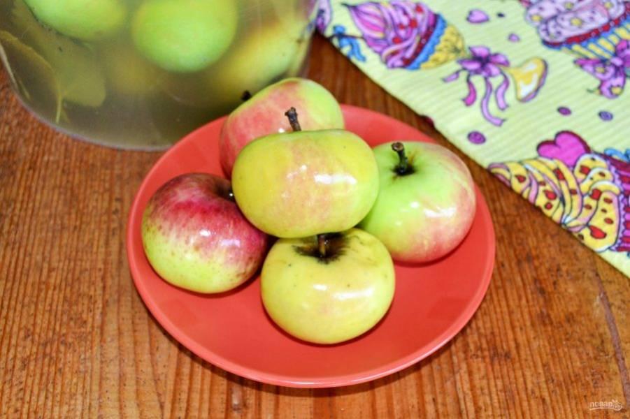 Обязательно попробуйте приготовить моченые яблоки с медом!