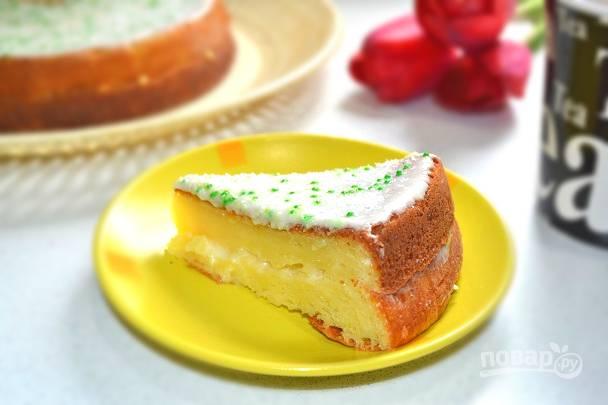 Кусочек такого тортика отлично подойдет для утреннего чая или кофе. Угощайтесь!