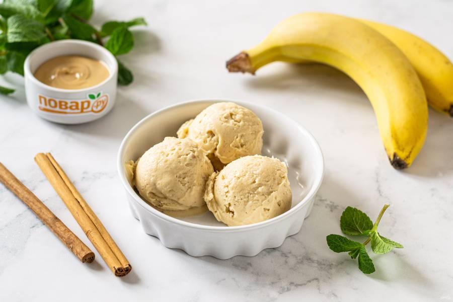 Веганское мороженое из банана