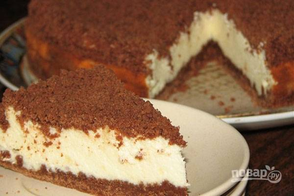 Запекайте пирог при 190 градусах в духовке в течение 45 минут. Ешьте выпечку в остывшем виде. Приятного чаепития!