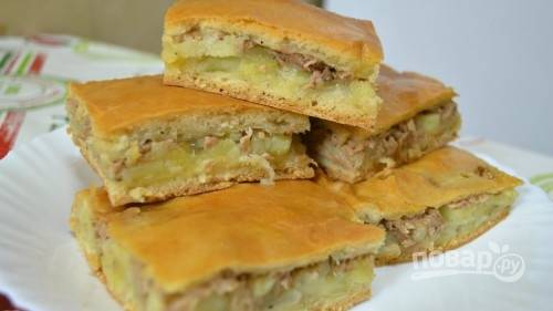 Простой рецепт пирога с рыбой