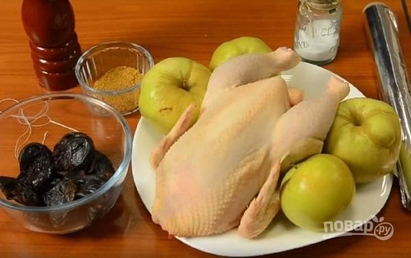 Как видите, ингредиентов нам понадобится не так и много. Вместо оливкового масла можно использовать майонез.