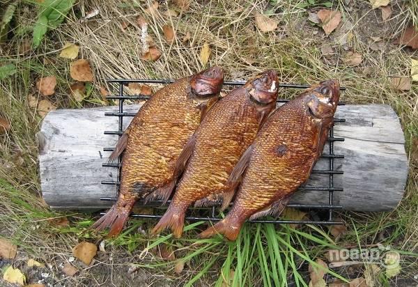 Копчение рыбы в коптильне