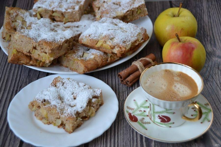 Бельгийский яблочный пирог прекрасно подойдет к утреннему кофе или к чаю. Он получается вкусный, ароматный, простой в приготовлении. Очень рекомендую приготовить!