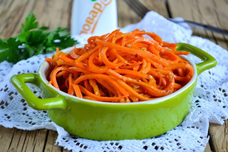 Морковь по-корейски без уксуса