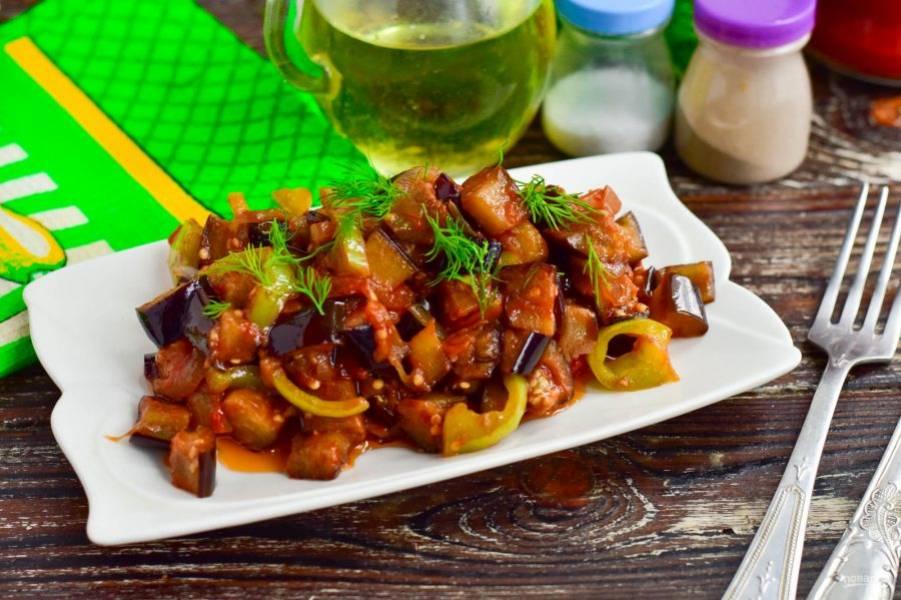 Баклажаны с томатной пастой готовы! Приятного аппетита!
