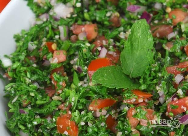 """5. Левантийский салат """"Табуле"""" готов к подаче. Угощайтесь!"""