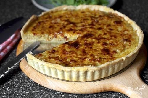6. Луковый пирог кушайте на горячее и холодное. Приятного!