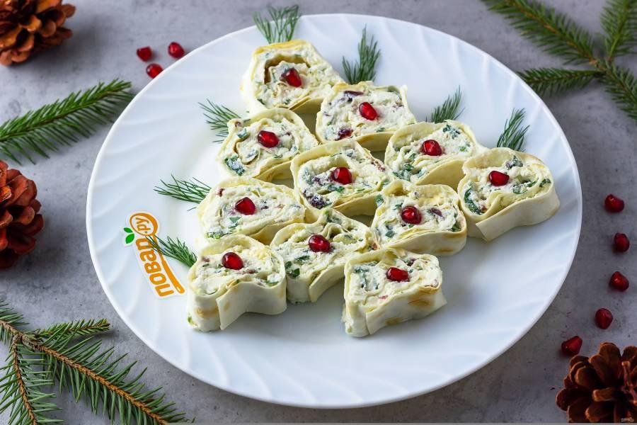 Закусочный рулет с сыром