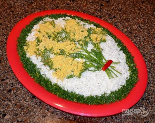 """Салат """"Мимоза"""" на праздничный стол"""