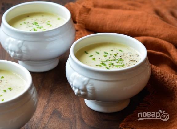 Суп-пюре с пореем
