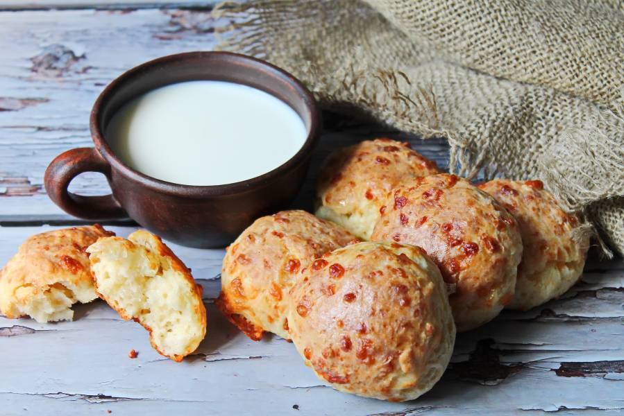 Сырные булочки без дрожжей