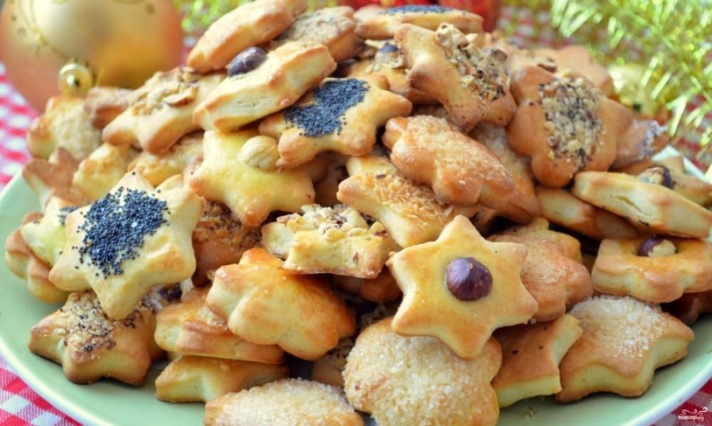 """Готовое печенье """"Ассорти"""" можете подать с чаем или кофе. Приятного аппетита!"""