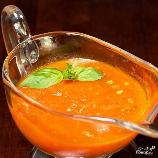 Готовый соус охлаждаем и подаем. Приятного аппетита! :)