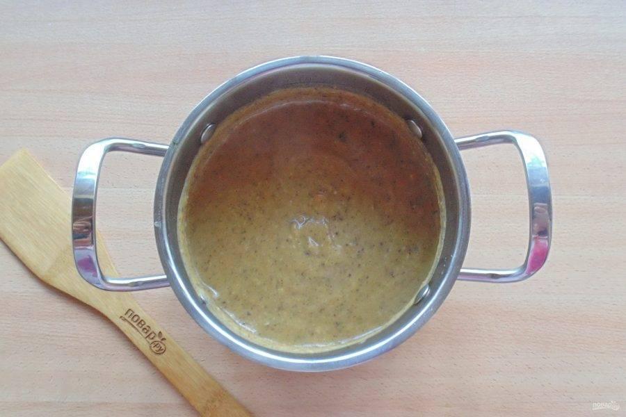 А также овощной бульон до желаемой консистенции супа. Перемешайте все ингредиенты.