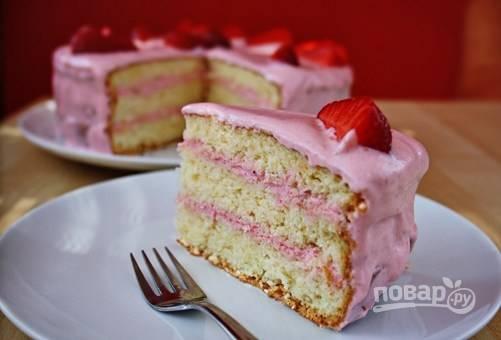 Тортик с клубникой