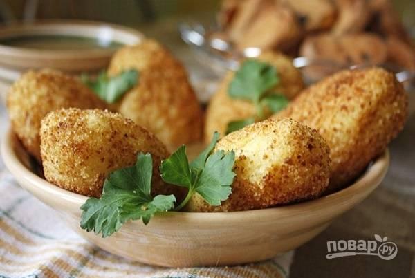 Картофельные котлеты с рисом и грецкими орехами