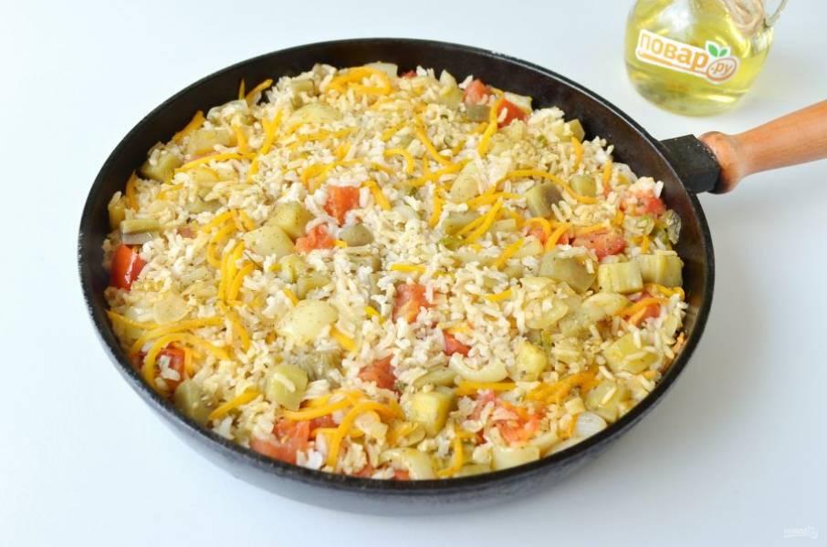 6. Ароматный и вкусный рис с баклажанами и сладким перцем готов. Пробуйте!