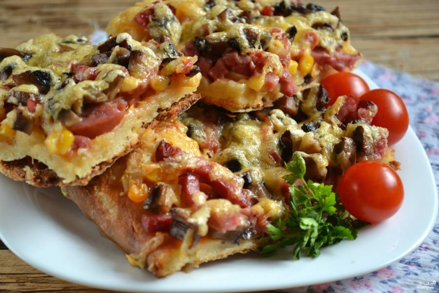 Бездрожжевое тесто для пиццы на молоке