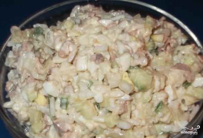 Печень трески с рисом