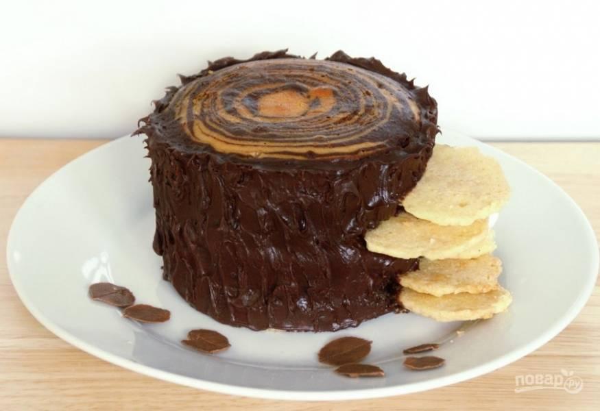 """Торт """"Трухлявый пень"""" (классический)"""