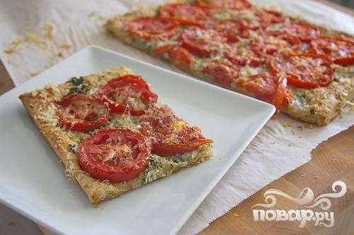 """Тарт """"Три сыра"""" с помидорами"""