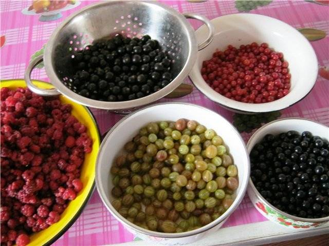 Помойте ягоды и удалите хвостики.