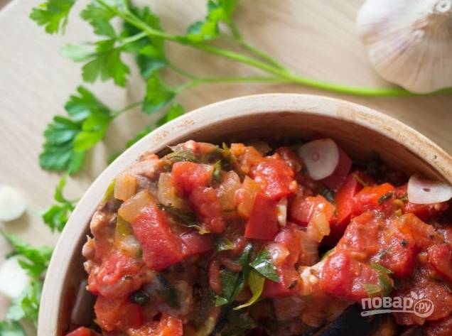 Мясо с баклажанами по-турецки