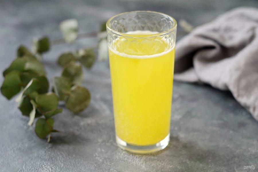 Лимонад с манго готов, приятного аппетита!