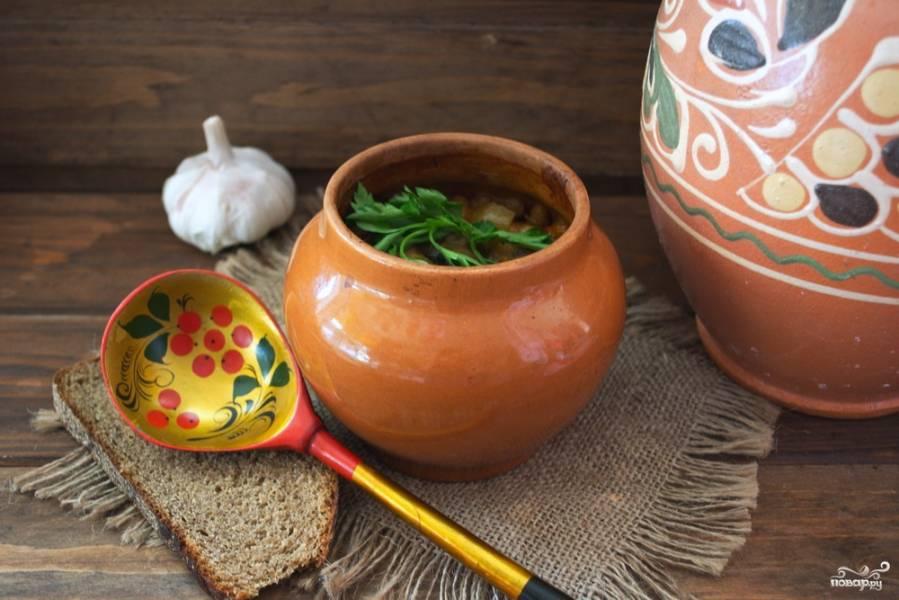 Чанахи с фасолью и грибами