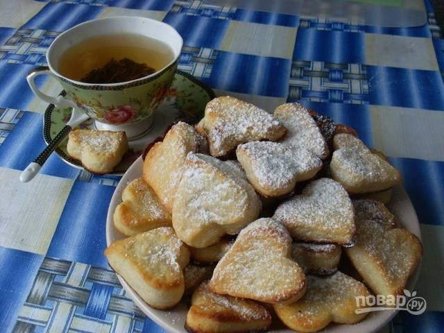 Запекайте печенье в духовке при 180 градусах в течение 15-20 минут. Приятного чаепития!