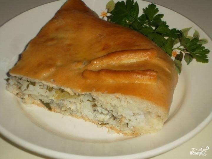 Рыбный пирог из свежей рыбы