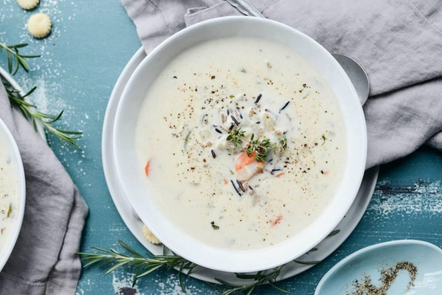 Суп из риса и индейки