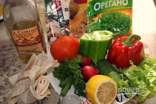 1. Очень яркий, сочный и полезный набор ингредиентов, которые необходимы, чтобы повторить рецепт на вашей кухне.