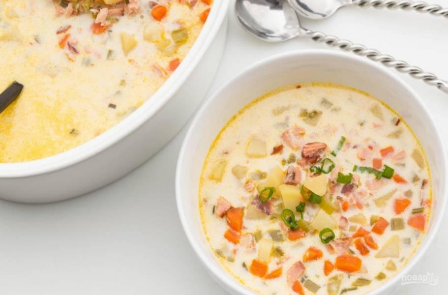 Рецепт супа с семгой