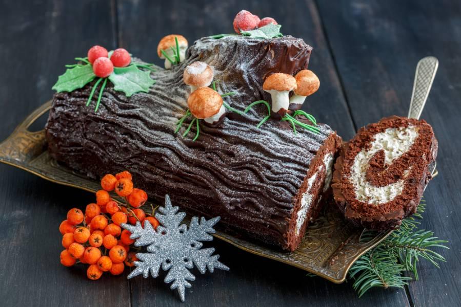 """Десерт """"Новогоднее полено"""": раскрываем секреты приготовления"""