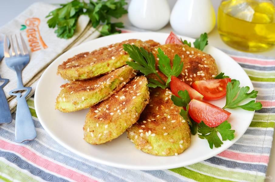 Вегетарианские отбивные из кабачков