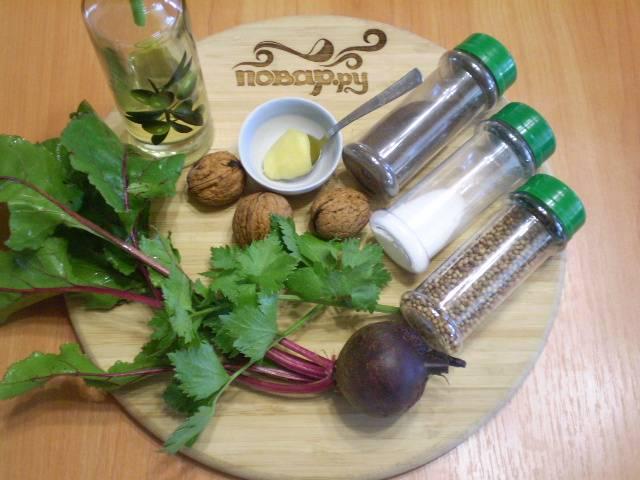 Подготовим необходимые для салата ингредиенты.