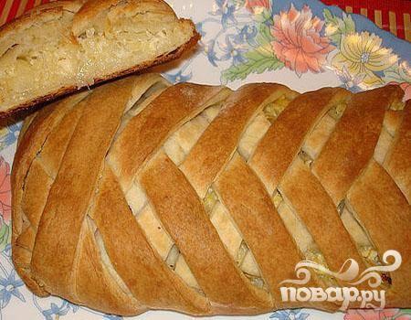Плетеный пирог с капустой
