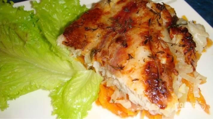 6.Подаю рыбку уже остывшей, можно с гарниром из свежих или печеных овощей.