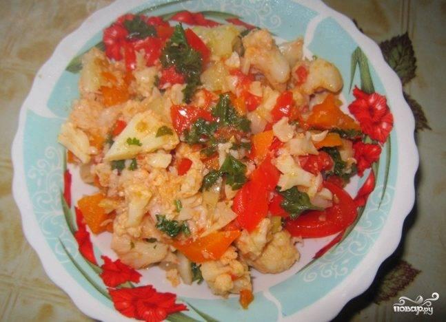 Цветная капуста с овощами