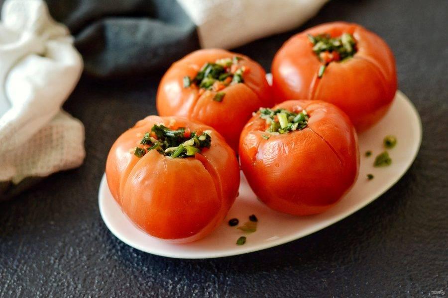 Кимчи из помидоров готово, приятного аппетита!