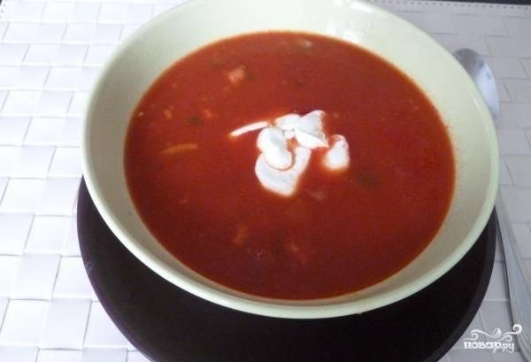 Варите суп в течение 10 минут и выключайте. Приятного аппетита!