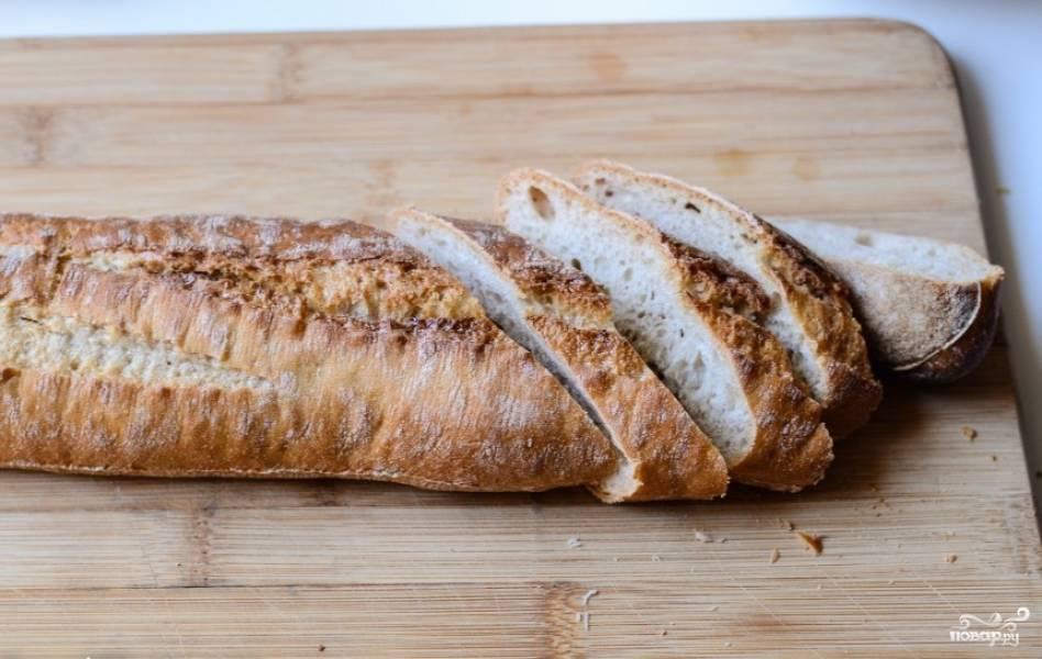 Хлеб порезать.
