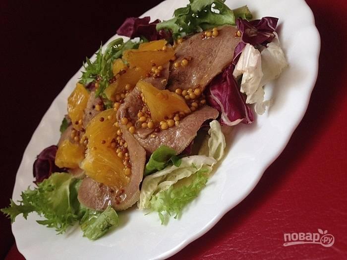 Рецепт салата из говяжьего языка